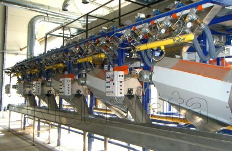 Particolari Impianto Pelatura Castagne - Nunziata Tecnologie Agroalimentari